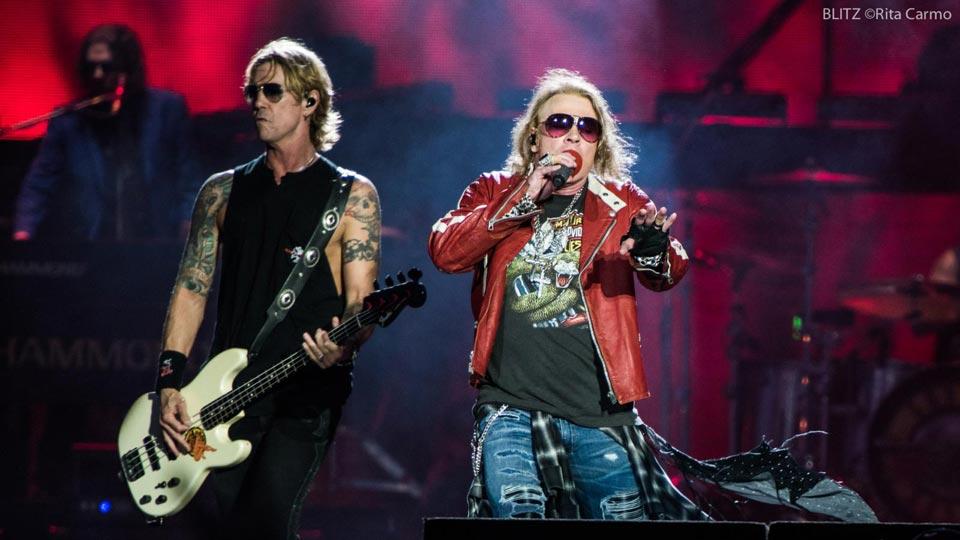 Concierto de Guns N 'Roses en Lisboa - Portugal