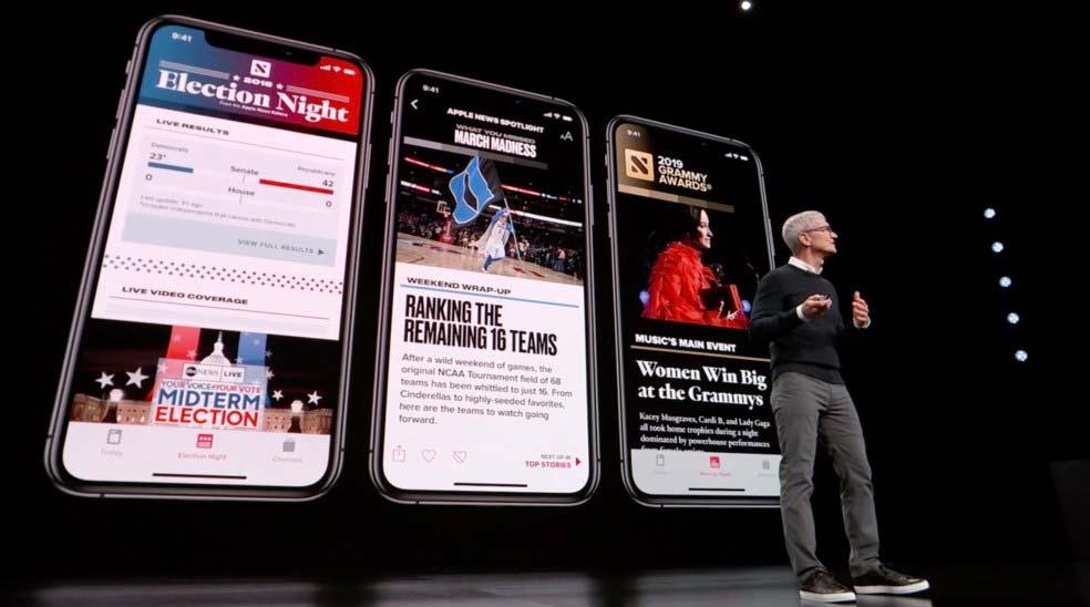 Servicio de noticias de Apple alcanza 100 millones de usuarios
