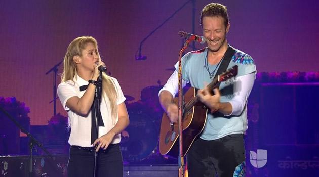 Coldplay y Shakira se presentan juntos en Global Citizen