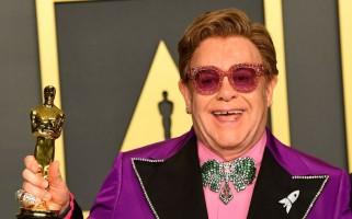 Oscar 2020: Elton John tras ganar premio a Mejor canción original envió sentido mensaje a su esposo e hijos [FOTOS]